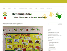 Tablet Preview of buttercups-care.co.uk